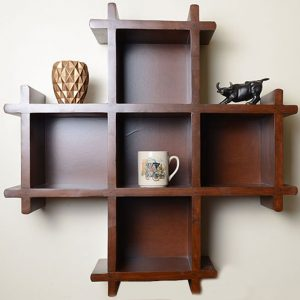 Plus Shaped Bookshelf