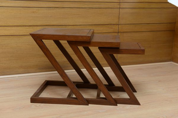 Z Shaped Nesting Table
